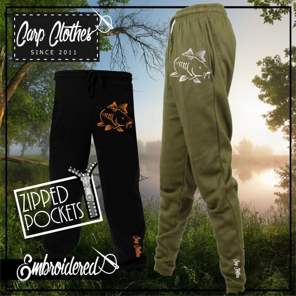 003 EMBROIDERED CARP JOGGERS
